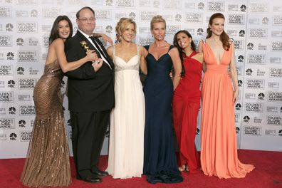 Teri Hatcher, Marc Cherry, Felicity Huffman, Nicollette Sheridan, Eva Longoria, Marcia Cross, Desperate Housewives, Golden Globes