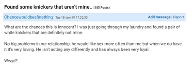The Mumsnet post has caused a stir.
