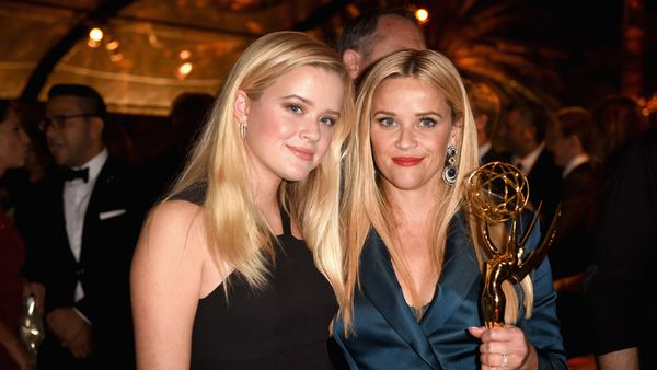 Reese Witherspoon and daughter Ava - whose dad is Reese's ex Ryan Phillippe. Image: Getty.