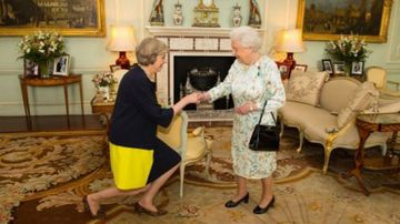 Theresa May sworn in by the Queen last Wednesday. (AAP)