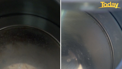 The inside of the kettle was transformed in 30 minutes all thanks to the lemon juice.