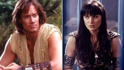 Lucy Lawless, Kevin Sorbo, Twitter feud, Capitol Hill riots