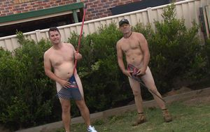 Meet the Gold Coast gardeners baring it all while on the job
