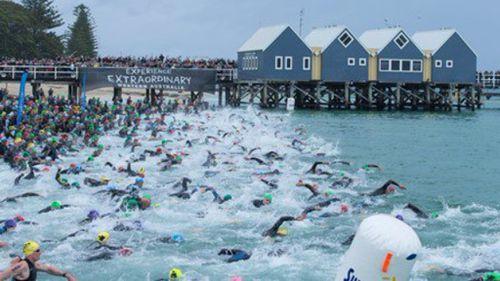 Shark sighting brings triathlon to a halt in Western Australia