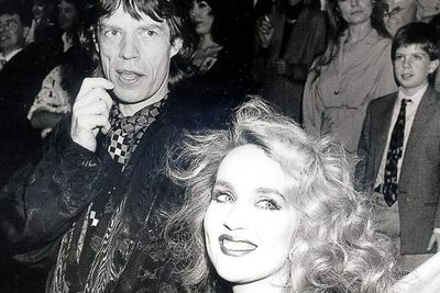 Mick Jagger and Jerry Hall<br />