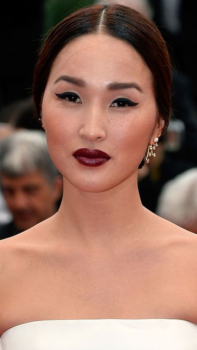 <p><strong>Nicole Warne</strong> rocked a moody lip on day two.</p>