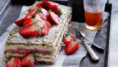 "<a href=""http://kitchen.nine.com.au/2016/05/16/20/00/strawberry-yoghurt-and-pistachio-layer-cake"" target=""_top"">Strawberry, yogurt and pistachio layer cake</a><br> <a href=""http://kitchen.nine.com.au/2016/09/21/14/05/strawberry-sensation"" target=""_top""><br> More strawberry desserts</a>"