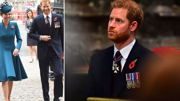No sign of baby Sussex as Prince Harry attends Anzac service
