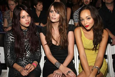 With a new look and A-lister besties, Peaches was signed to a six-figure modelling deal in 2009 as the face of the Miss Ultimo collection. <br/><br/>(Image: Peaches Geldof, Mischa Barton and Ashley Madekwe front row at a New York fashion show on September 13, 2009. Source: Getty)