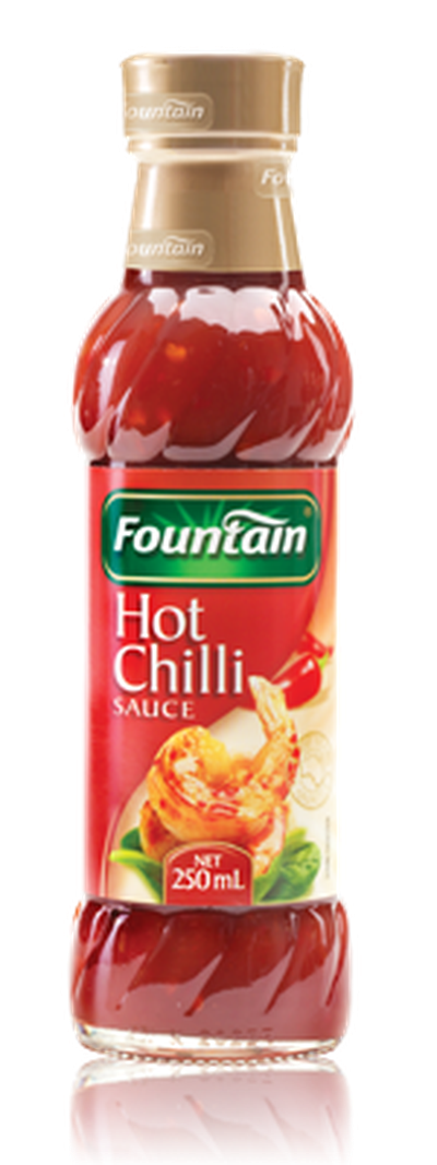 <strong>Fountain Hot Chilli sauce (31.2 grams of sugar per 100ml)</strong>