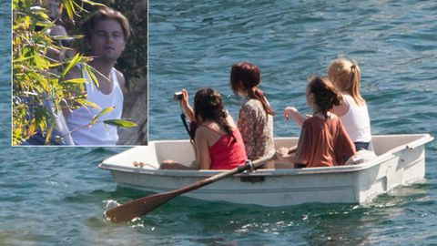 Leonardo DiCaprio stalked by Aussies in a rowing boat