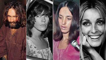 Charles Manson, Leslie Van Houten, Susan Atkins and Sharon Tate.