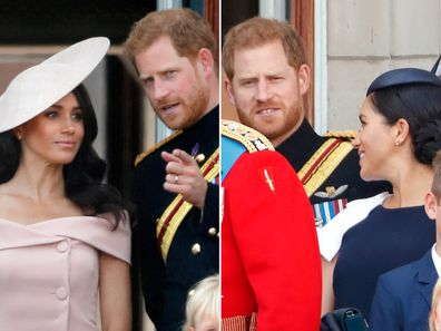 Prince Harry and Meghan at Trooping the Colour 2018 and 2019