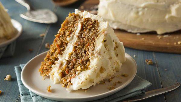 Classic moist carrot cake