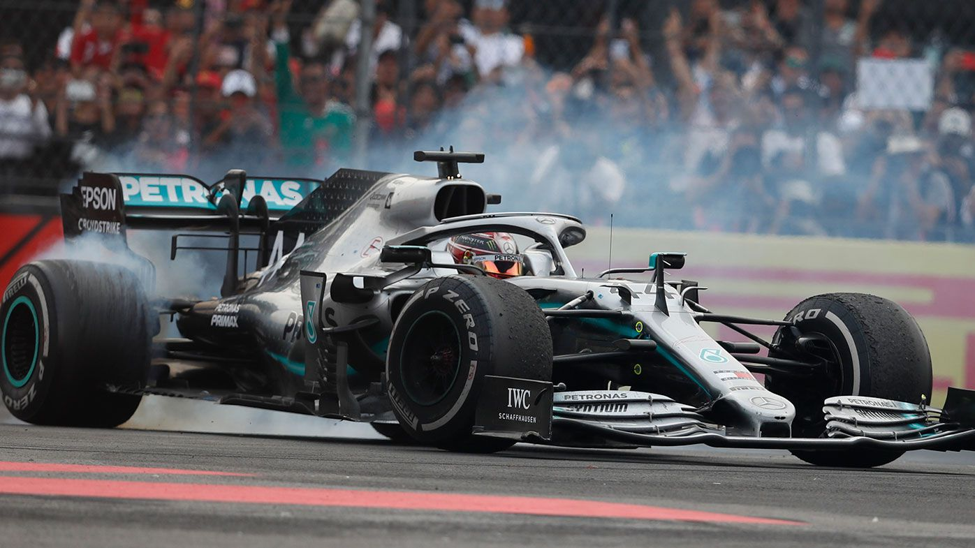 Lewis Hamilton wins the Mexican Grand Prix.