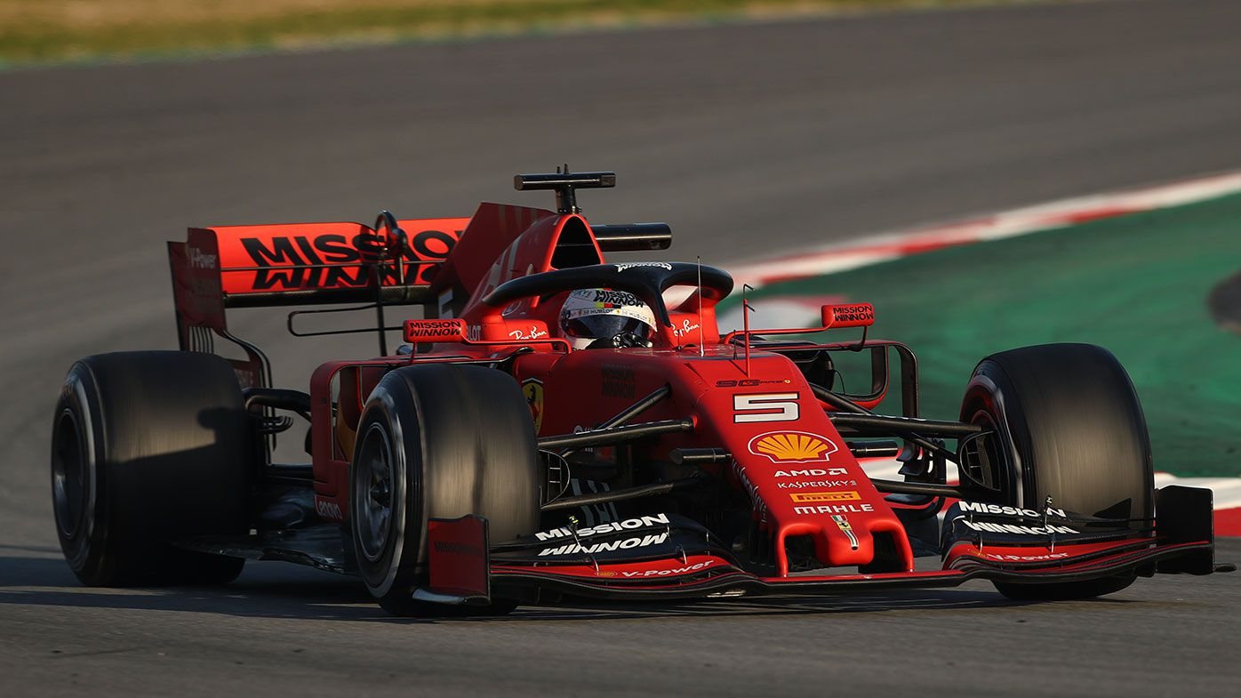 Vettel sets pace on opening day of pre-season testing
