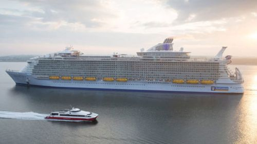 A Royal Caribbean cruise ship.