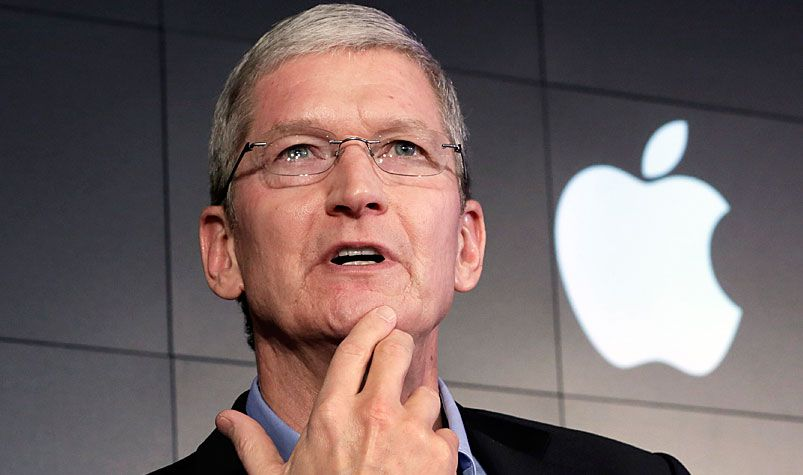 Apple boss Tim Cook. (AAP)