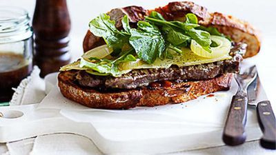 <strong>Ploughman's steak sandwich</strong>