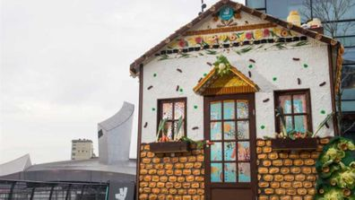 House made of food