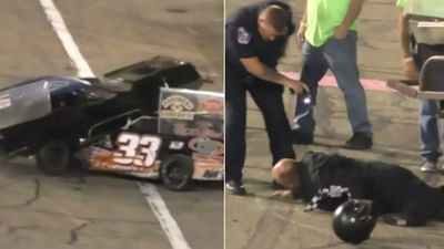 Racecar driver tased after wild on-track brawl