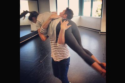 'I have no words to express how nervous I am about this lift. Tune into @dancingau on Tuesday night, to see this potential disaster.'