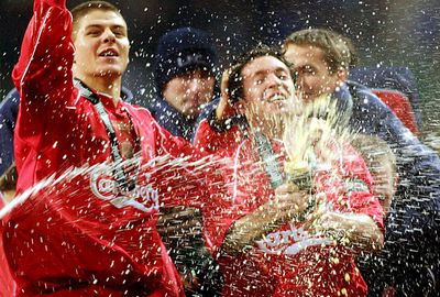 He won his first trophy in 2001/02 when Liverpool triumphed in the League Cup.