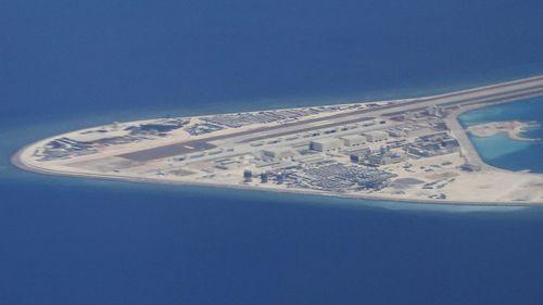 Man made island South China Sea