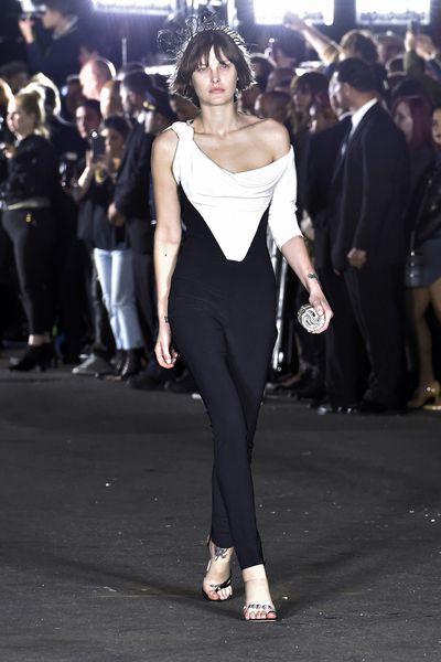 Australian supermodel Catherine McNeil in Alexander Wang, Spring 18, New York Fashion Week.