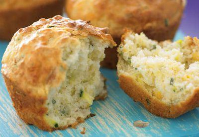 Zucchini and corn muffins