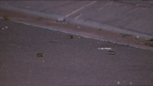 It's believed more than a dozen bullets were fired at the home.