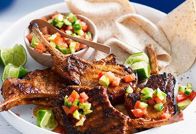 Mexican pork cutlets with salsa