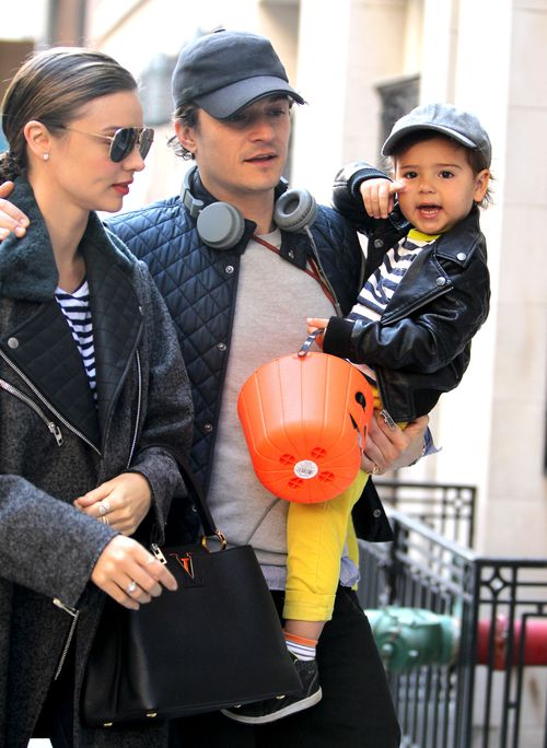 Miranda Kerr with Orlando Bloom and their son Flynn in 2013. (AAP)
