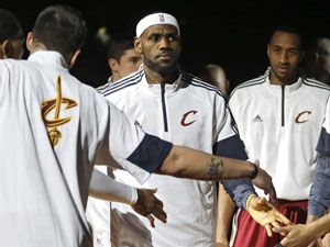 Cleveland Cavaliers' LeBron James. (AAP)