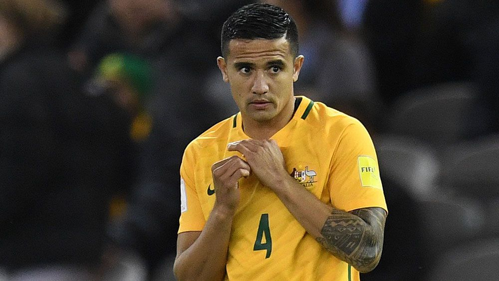 Tim Cahill and the Socceroos are likely to play Thailand at a neutral venue. (AAP)