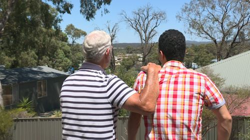 Mr Mojtahedinyazdi and homestay father, John, have formed a strong bond over the past two years.