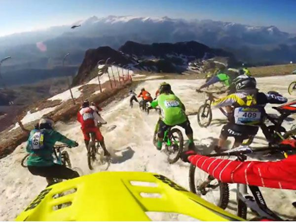 Mountain bike riders put it on the line in epic glacier race