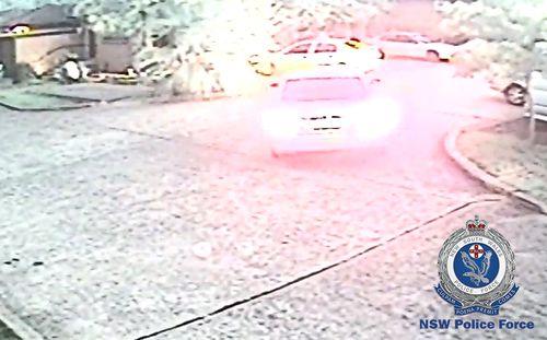 The Nissan was seen entering a unit complex on Eddy Street, Merrylands.