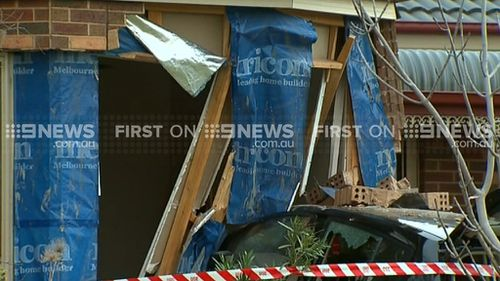 The house sustained serious damage. (9NEWS)