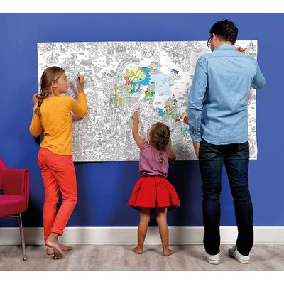 """<a href=""""https://www.kidostore.com/collections/toys-books-art-craft/products/giant-colouring-poster-sydney"""" target=""""_blank"""">Omy Giant Colouring Poster - Sydney, $53.95.</a>"""