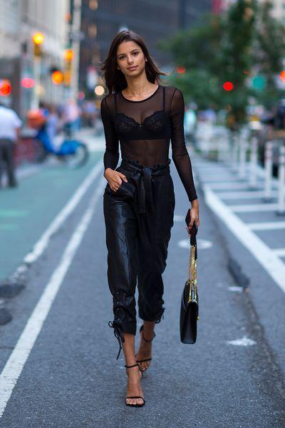 Bruna Lirioat the Victoria's Secret Casting Call in New York, August 21, 2017