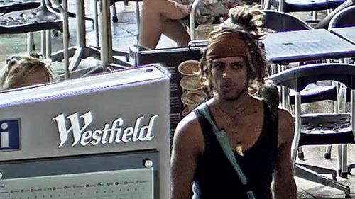 CCTV images showed the man at a nearby Westfield. (Supplied)