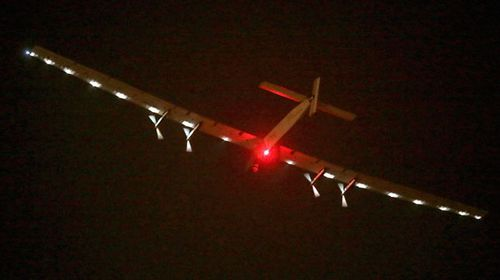 Solar Impulse 2 over Sea of Japan, day after take-off