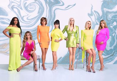 Real Housewives of Beverly Hills, Season 10, Garcelle Beauvais, Denise Richards, Lisa Rinna, Kyle Richards, Erika Jayne, Dorit Kemsley and Teddi Mellencamp.