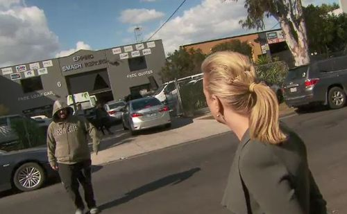 "rime reporter Alexis Daish was approached by the unidentified man, who repeatedly told her to ""f--- off""."