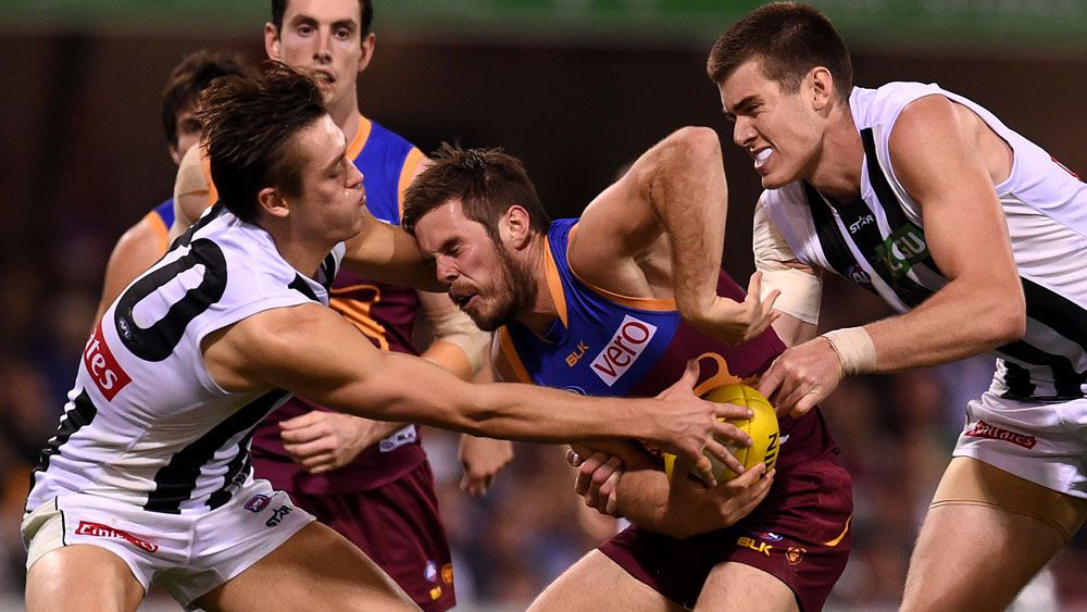 Magpies thump pathetic Lions in AFL