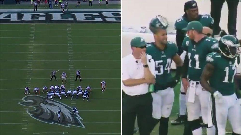NFL: Philadelphia Eagles' Carson Wentz promises Jake Elliott paycheck for 61-yard field goal
