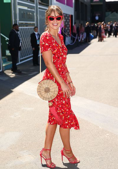 <p>No. 1 Steph Clair Smith</p> <p>This is how to dress for the races. With her Realisation Par dress, Soda Shades and Windsor Smith shoes the model made everyone else look as though they were trying too hard on Oaks Day.</p>