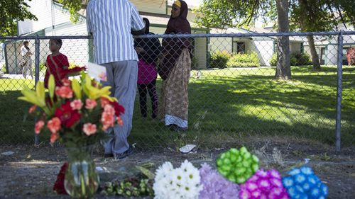 A girl, three, has died after a mass stabbing at her birthday party in Idaho, US. (AP)
