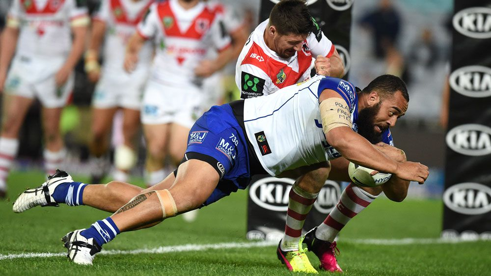 Bulldogs hold out Dragons in NRL thriller